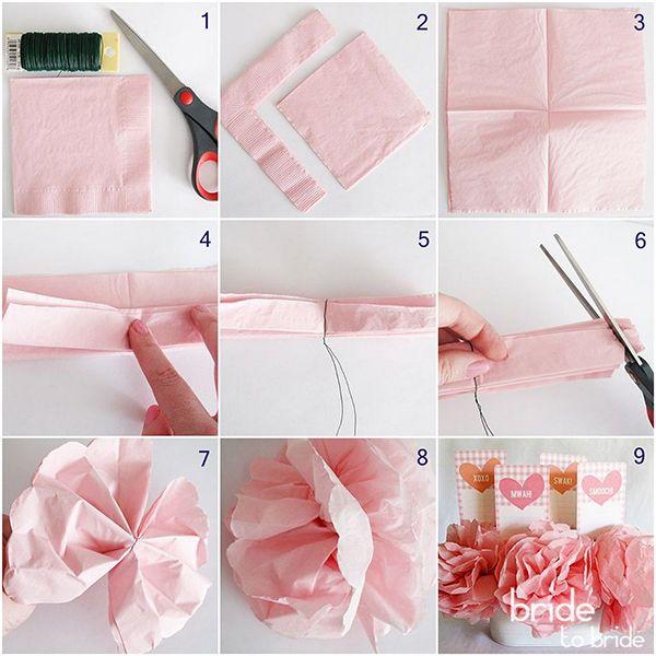 Как сделать цветок из салфетки своими руками