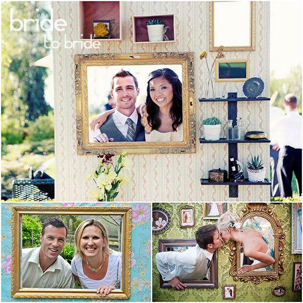 Фотобудка на свадьбу стена с рамками