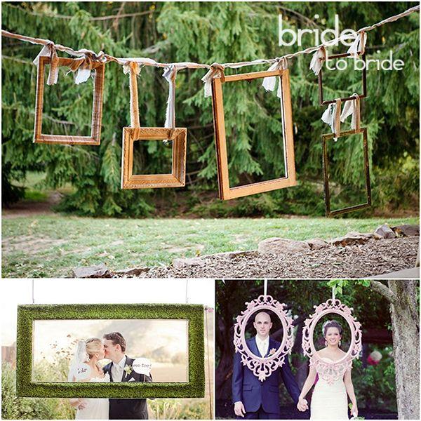 Оформление фотобудки на свадьбу рамками
