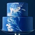 Синий свадебный торт фото