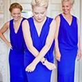 Синие платья подружек невесты промо